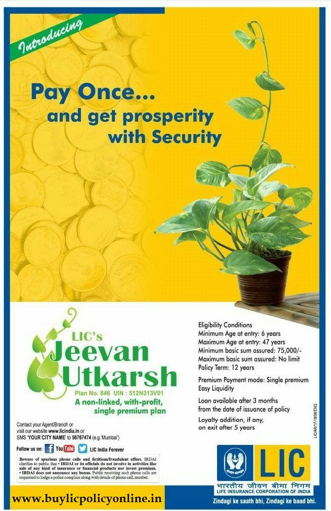 Jeevan Utkarsh - Buy LIC Policy Online